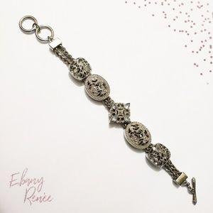 Silver Chunky Charm Bracelet